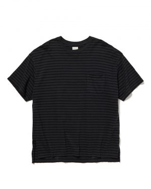 OVERDYED BORDER BAGGY TEE SS