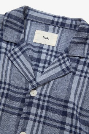 SS SOFT COLLAR SHIRT TONE ON TONE CHECK
