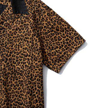 Leopard S/S Open Collar SH
