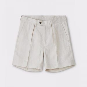 LINEN PIN TUCK SHORTS