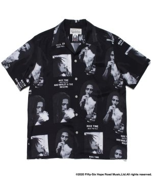 BOB MARLEY / S/S HAWAIIAN SHIRT ( TYPE-1 )