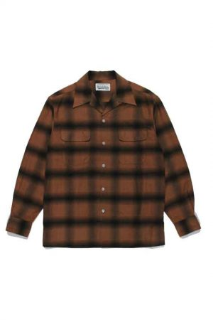 OMBRAY CHECK OPEN COLLAR SHIRT ( TYPE-1 )