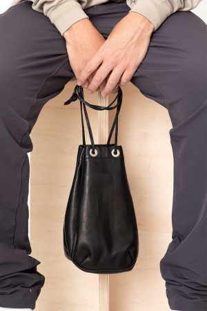 HORSE LEATHER DRAWSTRING BAG