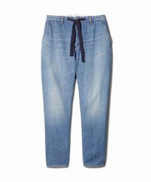 Comfy Damaged Denim Pants – Easy Fit Tapered