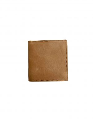 NUBUCK COW LEATHER BIFOLD WALLET