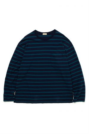 BAGGY TEE LS COTTON 24/1 BORDER JERSEY