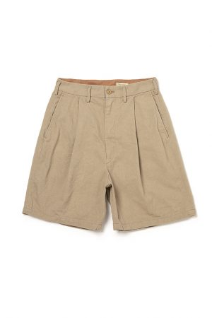 MUNNY TUCK SHORTS SUN DRIED COTTON KATSURAGI