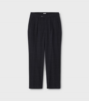 SEERSUCKER CHECK EASY TROUSERS