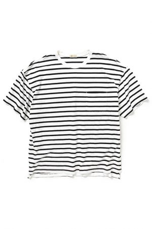 BAGGY TEE SS COTTON BORDER JERSEY